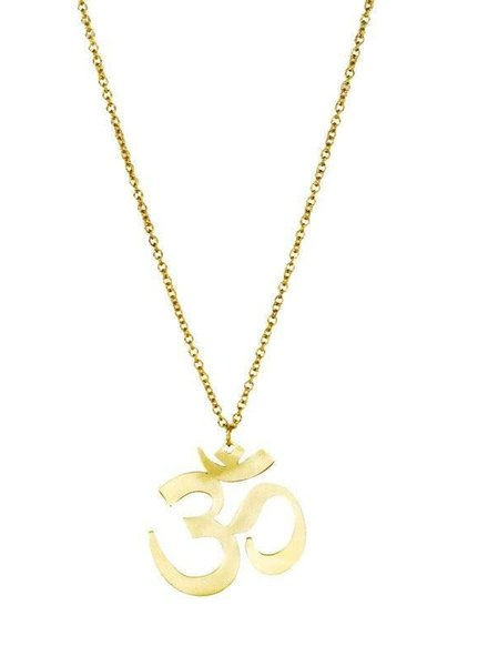 MONSERAT DE LUCA Brass OM Necklace