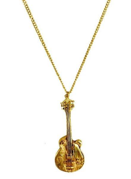 MONSERAT DE LUCA Brass Guitar Necklace