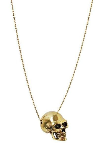 MONSERAT DE LUCA Brass Large Skull Necklace