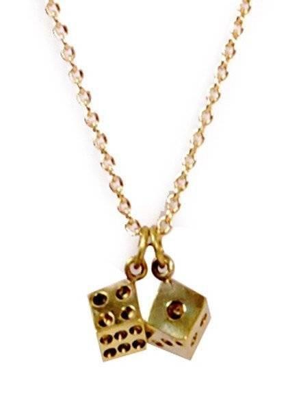 MONSERAT DE LUCA Brass Mini Dice Necklace