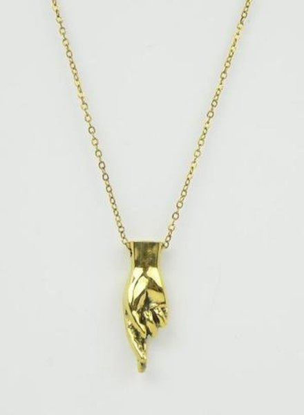 MONSERAT DE LUCA Letter R Sign Language Necklace