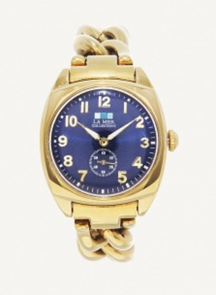 LA MER COLLECTIONS NAVY - GOLD MONACO WATCH