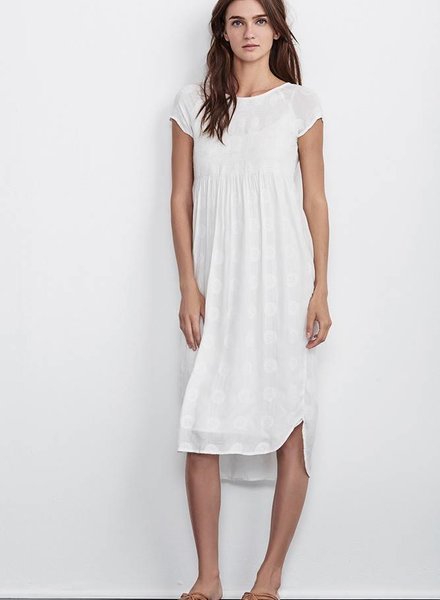 VELVET MARCELLA EMBROIDERED GAUZE DRESS