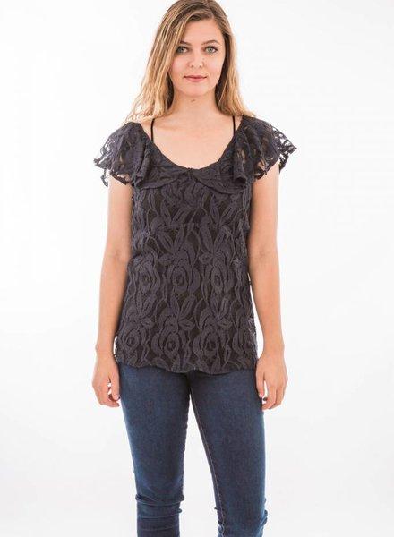 TSALT Lace Top Black L