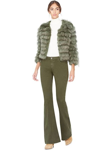 ALICE & OLIVIA Fawn Fur Jacket