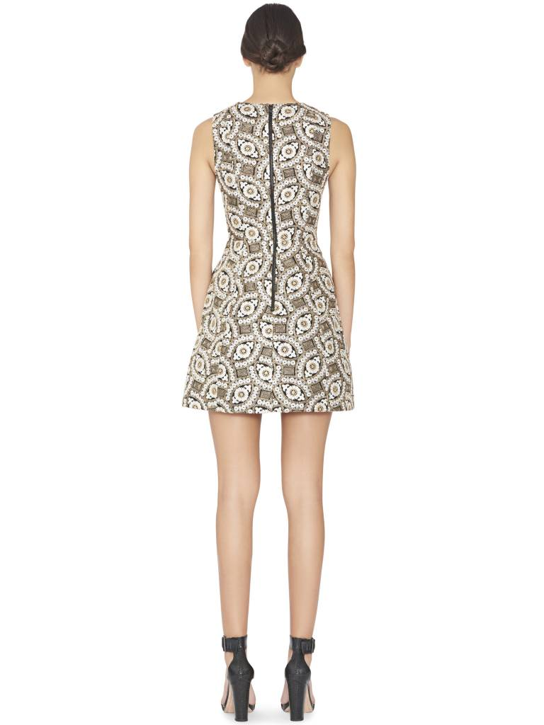 ALICE & OLIVIA PATTY EMBROIDERED DRESS