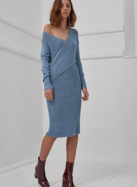 C/MEO COLLECTIVE MAKE A MOVE KNIT DRESS