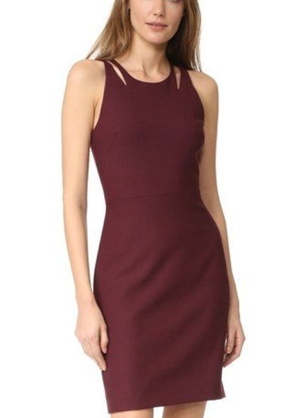 ELIZABETH & JAMES Everly Cut out Bodice Fitted Dress
