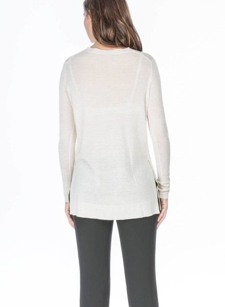 LEO & SAGE Side Slit Crewneck