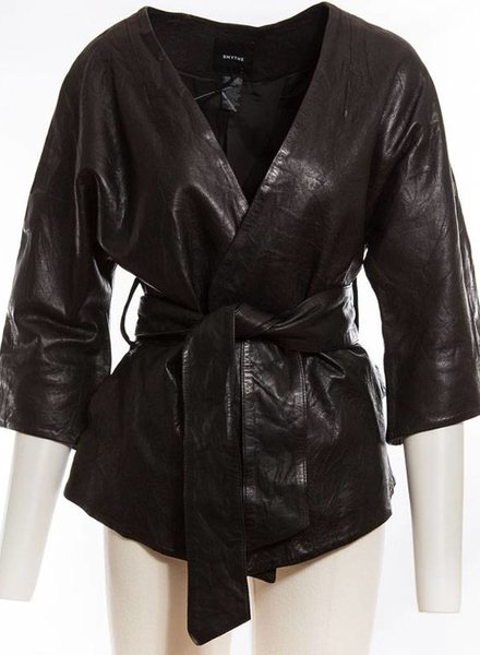 SMYTHE SMY WASHED LEATHER KIMONO