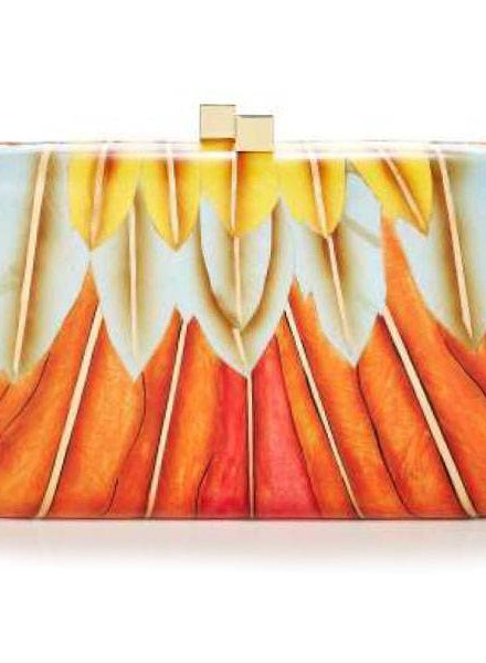 Feather Inlay Clutch