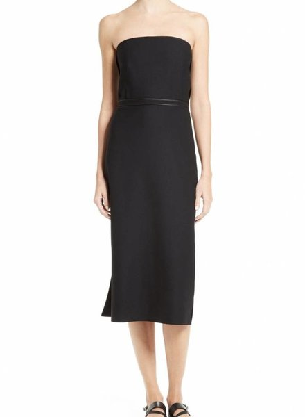 ELIZABETH & JAMES Sierra Fitted Strapless Mid-Calf Dress