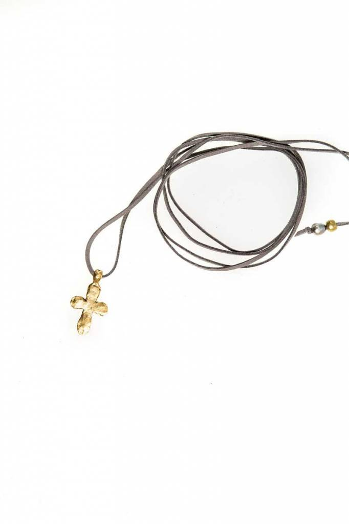 G SPINELLI Leather Wrap w/ Cross