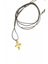 G SPINELLI Leather Wrap w/ Cross