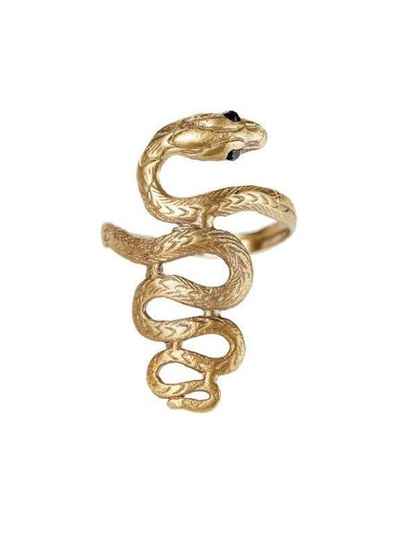 ALKEMIE Textured Snake Band Ring