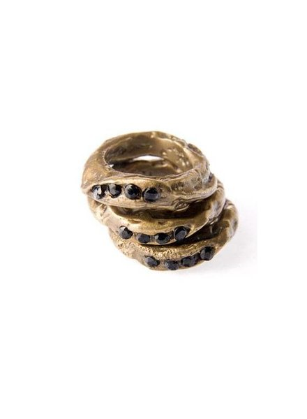ALKEMIE Textured Stacking Rings Set
