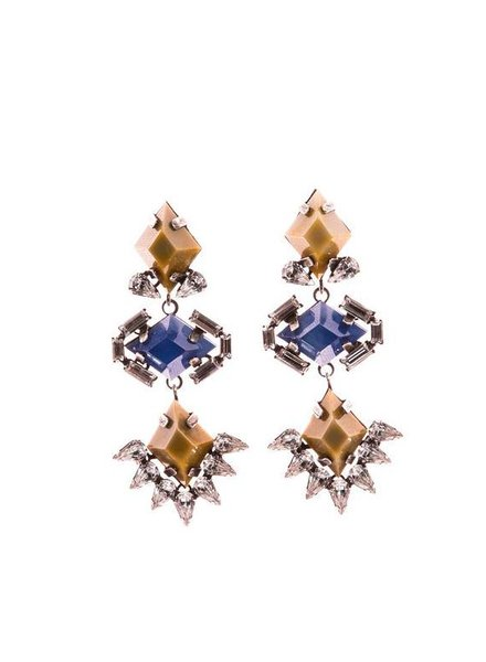 DANNIJO DJ Three Stone Drop Earring