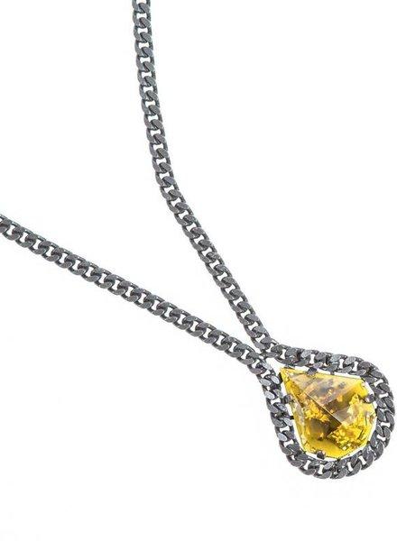 DANNIJO DJ Black Chain Pendant Necklace