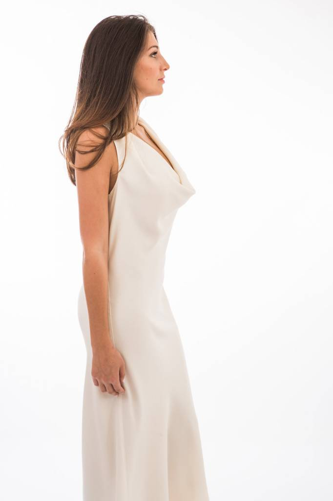 TSALT Olivia Cowl Neck Dress Knee
