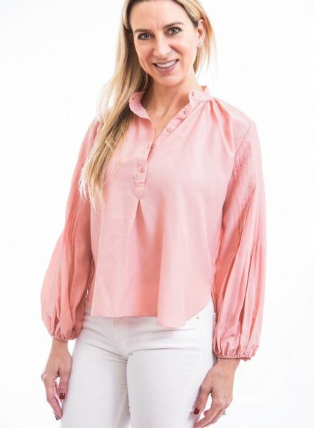 APIECE APART BRAVO PINTUCK ARM BLOUSE