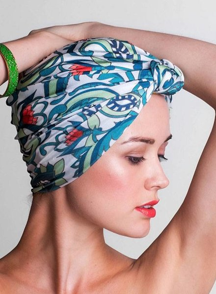 LOUVELLE Chic Turban Style Shower Cap