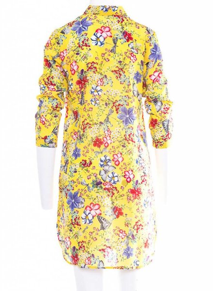 Joyce & girls J&G YULIA YELLOW SILK DRESS