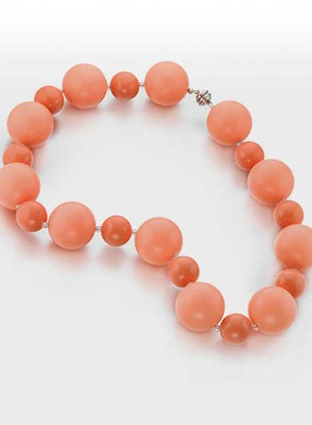 HOT GIRLS PEARLS Cooling Necklace - Coral 18""