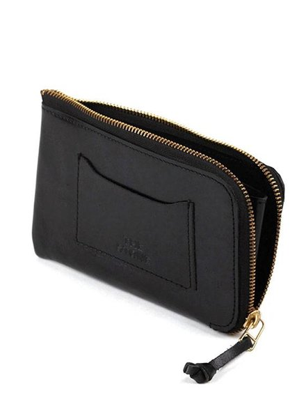 THE STOWE Zip Wallet w/ Brass Hardware