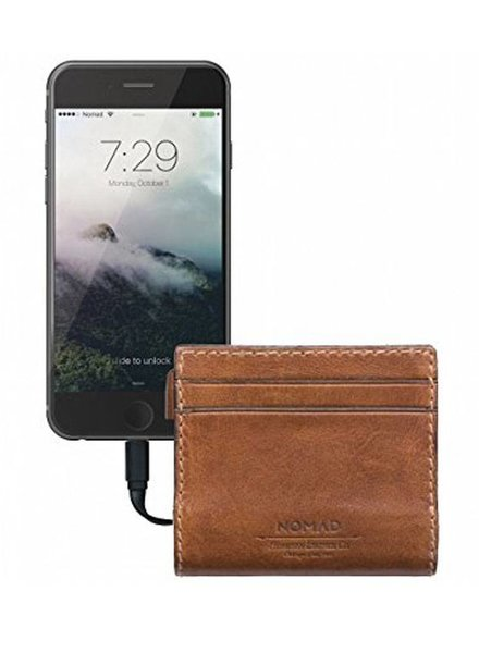 The Grommet NOMAD SLIM LEATHER CHARGING WALLET