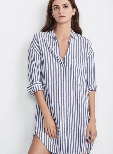 VELVET Velvet IVY stripe shirtdress