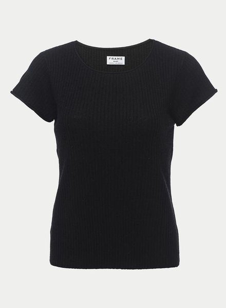 FRAME Fitted Rolled Ribbed Tee