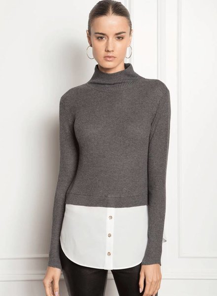 FEEL THE PIECE Hanson Sweater Tunic with Blouse Tail