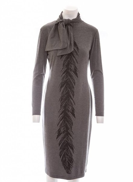 ISABEL DE PEDRO Feather Pencil Dress