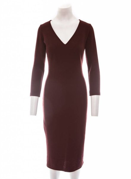 ISABEL DE PEDRO Pencil Dress V-Neck