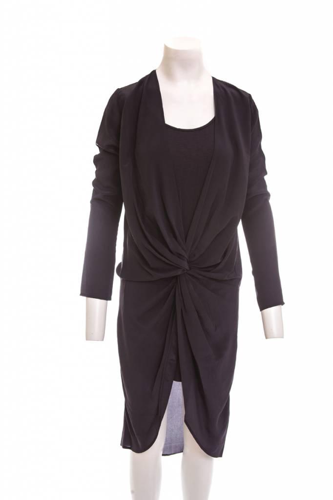 Laura Siegel Silk Twist V- Dress