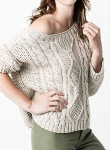 SMYTHE Hand Knit Shoulder Sweater