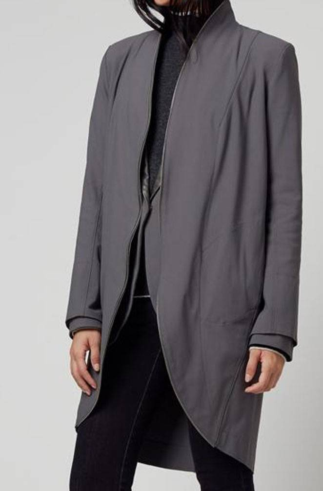 Elaine Kim Nosidam Stretch Trench