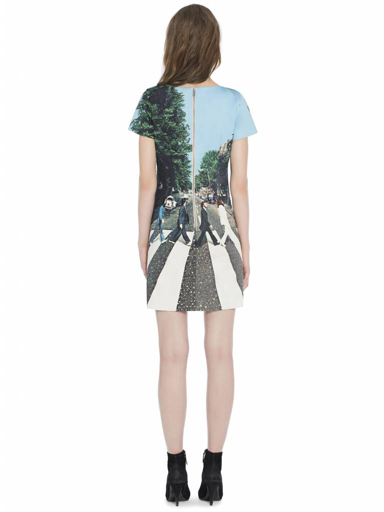 ALICE & OLIVIA Mani Embroidered T-Shirt Dress