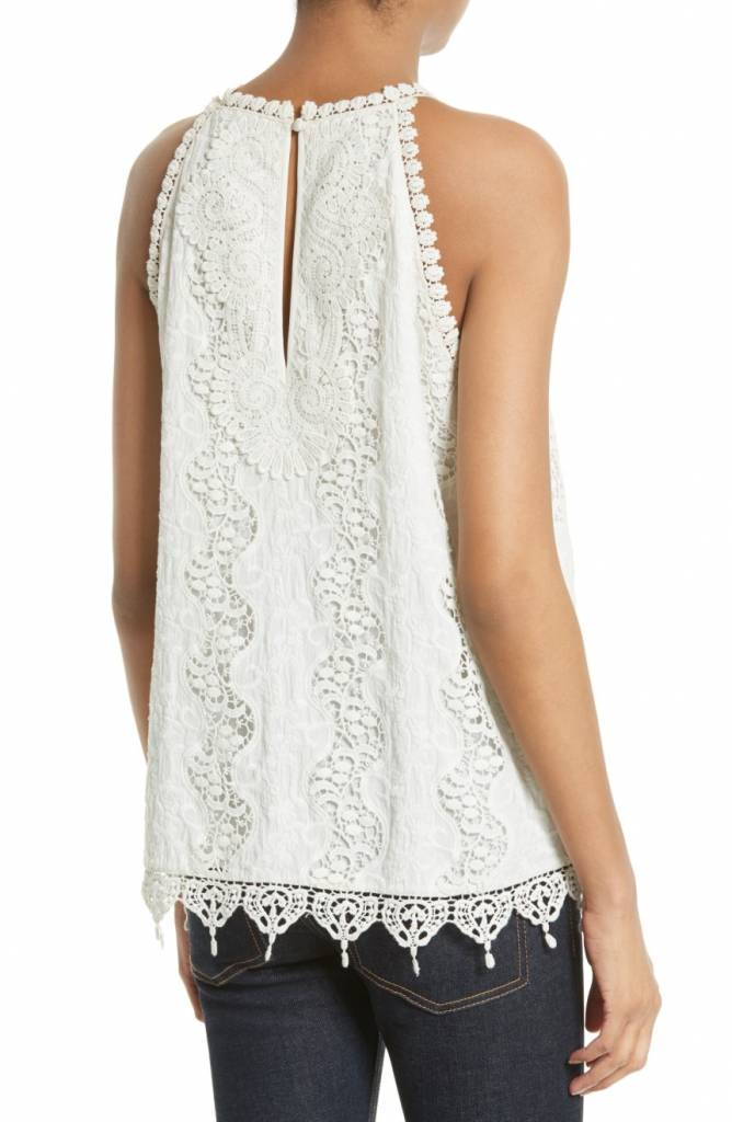 ALICE & OLIVIA DEZI NARROW EMBROIDERED TANK