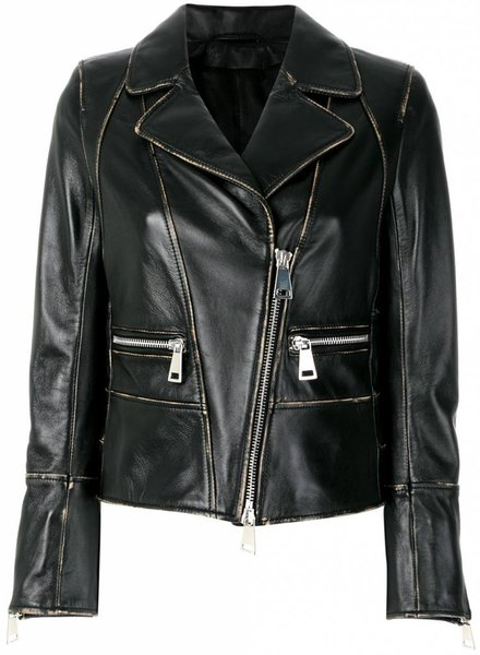 Sylvie Schimmel Flipper Hardware Leather Jacket