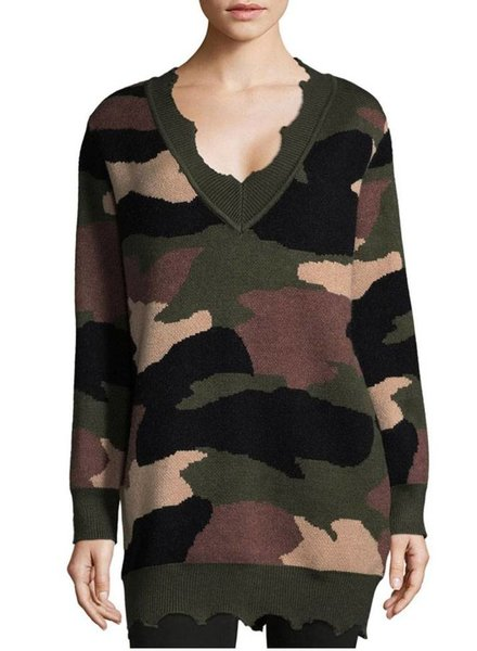 ZERO DEGREES CELSIUS Camo Pullover Sweater