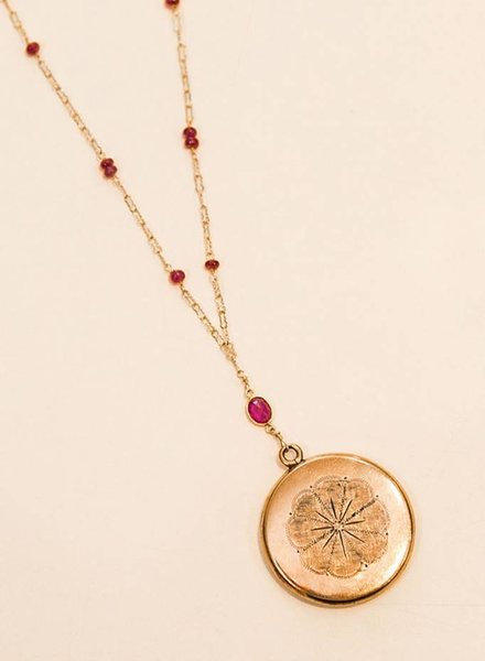 JUST JULES RUBY LOCKET