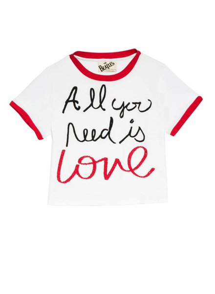 ALICE & OLIVIA Cindy Embroidered Ringer Tee