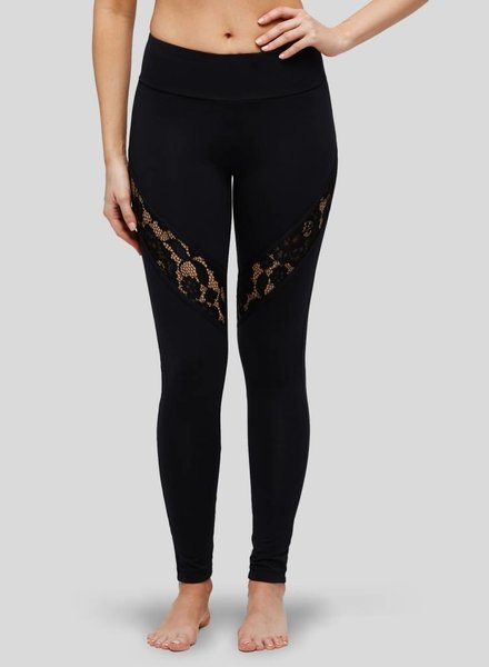 Peony Contrast Lace Legging