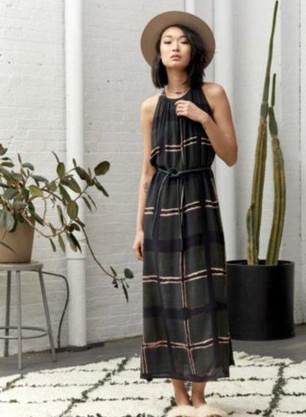 Laura Siegel Sleeveless Swuare Design Dress