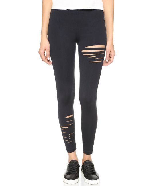 DAVID LERNER Half Ripped Legging