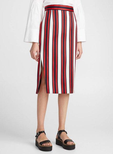 SMYTHE Striped Pencil Skirt