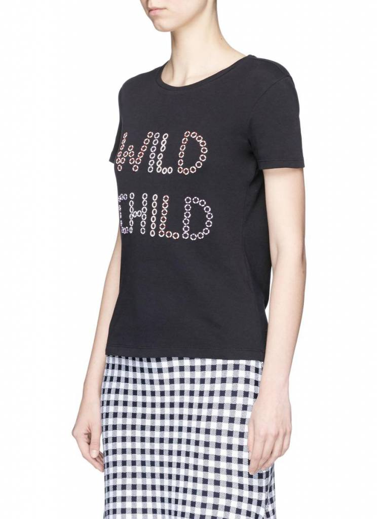 ALICE & OLIVIA RYLYN EMBELLISHED TOP
