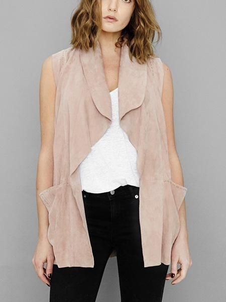 AS by DF Moonlight Suede Drape Vest