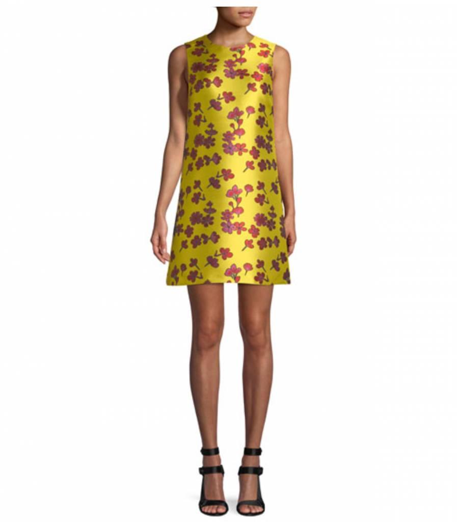 ALICE & OLIVIA COLEY CREW NECK A-LINE DRESS